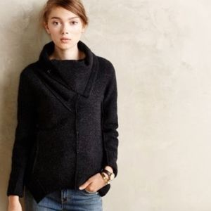 Anthro Sparrow Apex Boiled Wool Jacket